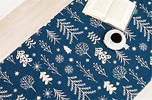 100*140cm blau schneeflocke baum Skandinavisch Instagram Tischdecken Baumwolle leinen Esstisch Rezeption rechteckigen quadrat nicht bügeln umweltfreundlich Tischtuch