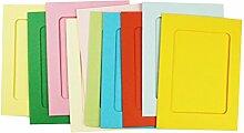 10015,2cm Papier Foto Rahmen mit 10Clips Home Dekoration
