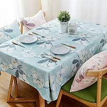 100* 160cm blau geblümt Rustikal europäischen American Instagram Esstisch Tuch Baumwolle Leinen Garten Picknick quadratisch, rechteckig Umweltfreundlich,