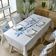100* 160cm Blue Bird skandinavischem minimalistischen Instagram Esstisch Tuch Baumwolle Leinen Garten Picknick quadratisch, rechteckig Umweltfreundlich,