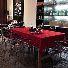 100* 160cm rot floral Japanische Cottage Instagram Tisch Tuch Baumwolle Leinen Esstisch Garten Picknick quadratisch, rechteckig Umweltfreundlich,