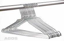 100 AGOS Metall Drahtbügel Drahtkleiderbügel mit