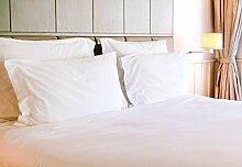 100% Bambus Bett Leinen-Luxus King Size Bettdecke Set von Walnuss (Pure weiß)