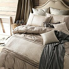 100% Baumwolle bettwäsche deckung set pastoral stil king laken luxury bettwäsche sammlung queen sheets 4 Stück -A King