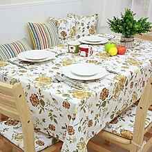 100% baumwolle blumen tischtuch stain resistentes essen tisch decken-C 140x140cm(55x55inch)