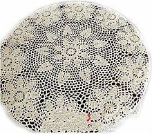 100% Baumwolle Handgemachte Häkeldecke mit Blume