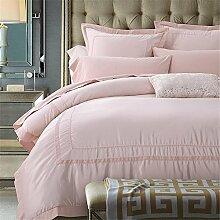 100 % Baumwolle Tribute Seide Bettwäsche-Set weiße bestickte Hotel Bettbezug Set Queen-Size mit Bed Sheet Kissenbezug , love romantic