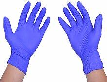 100/BOX Einweg Latex Handschuhe für Home Einweg Reinigung Hausarbeit Nitril Handschuhe dunkelblau