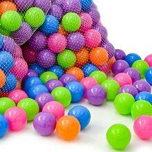100 bunte Bälle Bällebad 6 cm Pastell Farbmix