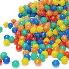 100 bunte Bälle Bällebad 7 cm Farbmix mehrfarbig