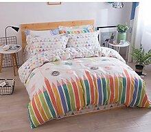 100% Cotton comforter set soft komfortable bettwäsche-kollektion lovely-A Queen2