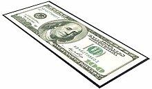 100 Dollar Bill Note Geld Tischläufer design, ideal für zu Hause, shop, bar, cocktail, party, Werbemittel