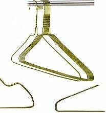 100 Drahtbügel in Gold Bronze Draht-Kleiderbügel - mit Einkerbungen - für den Hausgebrauch, Chemische Reinigung, Einzelhandel Schulterkerbe