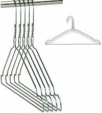 100 Drahtbügel Silber Draht-Kleiderbügel - mit Einkerbungen - für den Hausgebrauch, Chemische Reinigung, Einzelhandel Notched