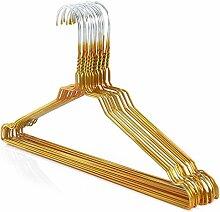 100 Drahtkleiderbügel verzinkt mit goldener Kunststoffbeschichtung, ca. 40,2 cm breit Hangerworld