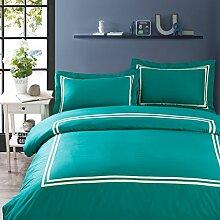 100% extra-baumwolle comforter set soft komfortable zimmer mit langer bettwäsche pure multi color-G Queen1