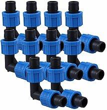 100Grün 16mm perma-loc Drip Garten Bewässerung Fitting Tape Tubing Elbow