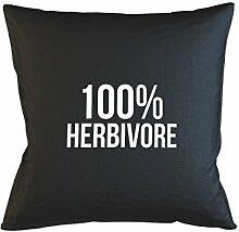100% Herbivore Food Funny Kissenbezug Fall Sofa Bed Home Dekor Kissen Schwarz