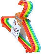 100 Kinder Kunststoff-Kleiderbügel-Set, bunt, 29 cm Hangerworld