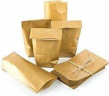 100 Kleine Mini Papiertüten 9 x 15 x 3,5 GOLD