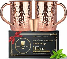 100% Kupfer Moscow Mule Becher–Set 2Moscow