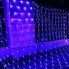 100 LED Lichternetz außen Solar,1.5m x 1.5m,8