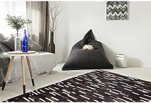 100% Lederteppich Patchwork Muster Leder Teppich
