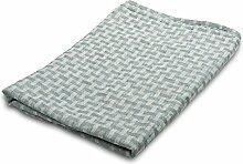 100% Leinen Badezimmer Handtuch–Made in Baltischer Region–bläulich grau–mit Checks–Für Hände, Gesicht–Sauna, Spa, Fitnessraum Verwenden, weiß, 70x140 cm