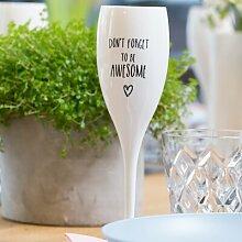 100 ml Sektglas Cheers aus Kunststoff