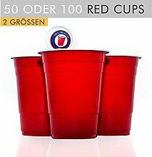 100 Original USA Red Cups + 6 Bälle +