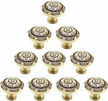 100/Pack Kupfer Tür Cabinet Regler, massiv Kupfer europäischen Classic Bronze Schublade Schrank Schrank Tür Möbelknopf Möbelgriff Griff Single Loch montiert–100% Kupfer und neues Design