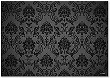 100 Papier-Tischsets Black Ornament I dv_008 I DIN