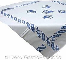 100 Papiertischdecken 1m*1m Landhaus blau Tischdecke Mitteldecke