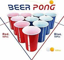 100 Partybecher Beer Pong Becher + 10 Beer Pong