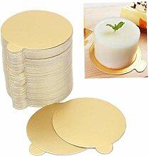 100 Pcgold Mousse Kuchen Boards Kuchen-Dessert