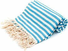 100% Pure Cotton Towel/Sauna Towel Beach Towel Hammam Peshtemal Turkish Bath Towel Hamamtuch Pestemal Fouta (Turquoise)