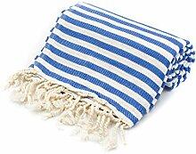 100% Pure Cotton Towel/Sauna Towel Beach Towel Hammam Peshtemal Turkish Bath Towel Hamamtuch Pestemal Fouta (Royal)