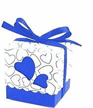 100Quadratisch Hochzeit Favor Boxen Hochzeit Candy Box Hochzeit begünstigt, und Geschenke Event & Party Supplies Pink, dunkelblau, Einheitsgröße