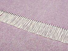 100% reine Lammwolle Bronte Sofa Überwurf Decke Teppich–lila bunte Herringbone t0133/A32