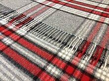 100% reine Lammwolle Bronte Sofa Überwurf Decke