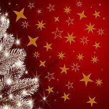 100 Sterne Aufkleber Sticker Weihnachten,Schaufensterdekoration Fensterbilder(Gold)