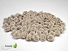100 Stk. Satinrosen 1,5cm // Rosen 15mm Stoffrosen
