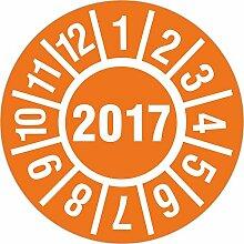 100 Stück 2017 Jahresprüfplakette 18 mm