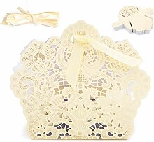 100 Stück Hochzeits-Gastgeschenk-Box,