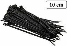100 Stück Kabelbinder schwarz 100 mm