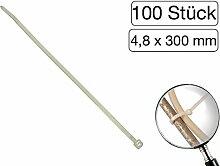 100 Stück Kabelbinder transparent 300 mm
