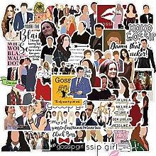 100 Stück Klassische TV-Show-Aufkleber Gossip
