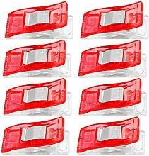 100 Stück Mini-Kunststoff Mehrzweck-Nähen Quilten Clip Handwerk Patchwork Clips Werkzeuge Zubehör Basteln Rote