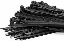 100 Stück/Set Selbstsichernde Nylon-Kabelbinder 8