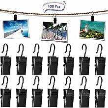 100 Stück Vorhang Clips Vorhangringe, Edelstahl